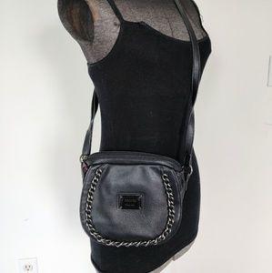 Black Vegan Leather Nicole Miller Crossbody Bag